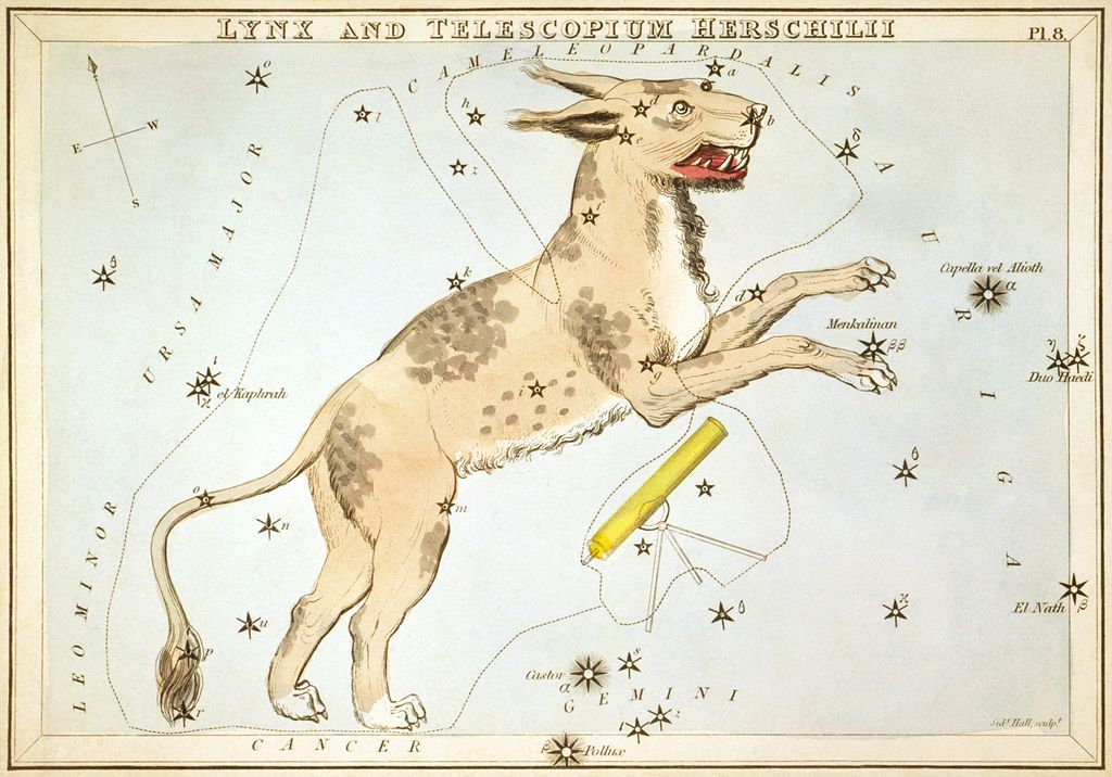 sidney_hall_-_uranias_mirror_-_lynx_and_telescopium_herschilii